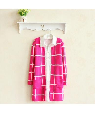 Spring Autumn Long Coat Winter Sweater Women New Korean Loose Big Yards Thin Plaid Knit Cardigan Female Vestidos LXJ253 - Pu...