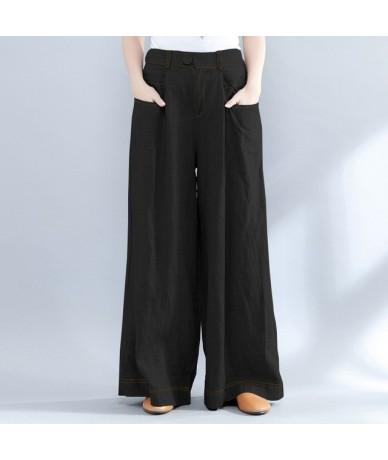 Pants for Women Wide Leg Pants Womens Casual Long Trousers Ladies High Waist Work Pants Streetwear Solid Pantalones Mujer - ...