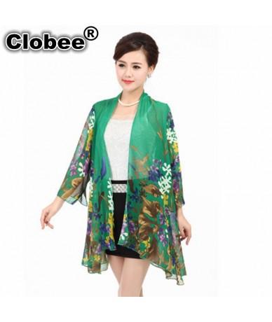 Ethnic Women Shirt Kimono Boho Cardigan Vintage Geometric Print Blouse Loose Shawl Lady Bohemian summer cardigan Plus Size B...