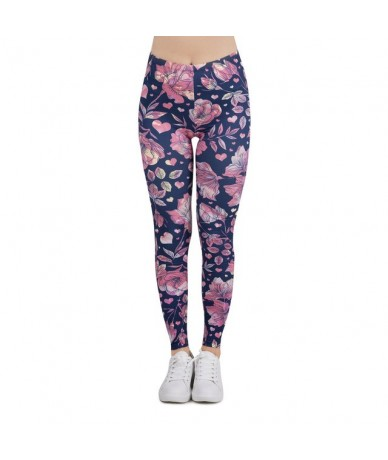 Women Legging floral love Printing Leggins Slim High Elasticity Legins Popular Fitness Leggings Female Pants - lga601004 - 4...