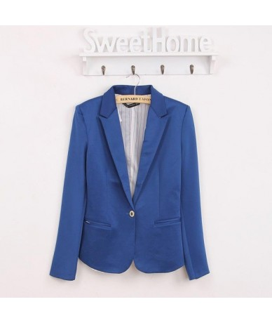 Spring Women Blazer Brand Jacket Made Of Cotton Basic Jackets Candy Color Long Sleeve Slim Suit Blazer Female Small Suit WWT...