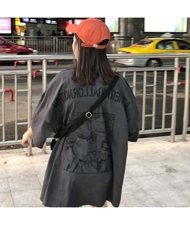 Summer 2019 casual Women T-shirts Ulzzang Streetwear kawaii cartoon print Tshirt Korean Style Tops Harajuku short sleeve t s...