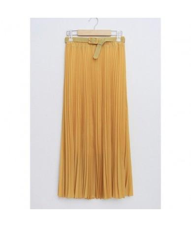 2018 Summer New Fashion Elegant Bohemia Chiffon Pleated Elastic Waist Women Floor-Length Long Maxi Tulle Beach Skirt With Be...