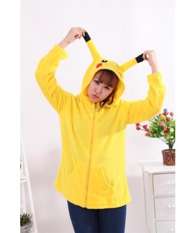 Cute Cosplay Anime Coon Costume Ears Face Tail Zip Hooded Sweatshirt Raccoon Hoodies Jacket - as photo - 443704002878-3