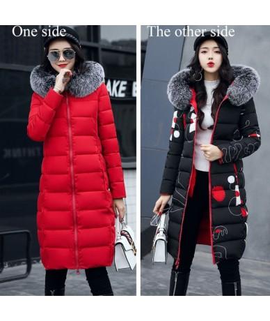 2019 winter women hooded coat fur collar thicken warm long jacket female plus size 3XL outerwear parka ladies chaqueta femin...