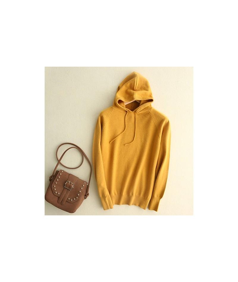 Knitted Best Friend Hoodies Women Hoody Ladies Cashmere Friends Hoodie Oversize Knitted Hoddie Hooded Sweatshirt Women - Yel...