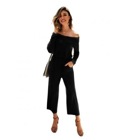 Women Casual Slash Neck Jumpsuits New Style Autumn Off Shoulder Jumpsuit Long Sleeve Overalls Ladies Clubwear Loose Playsuit...