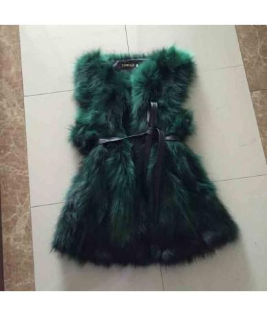 Belt Free Real Natural Genuine Raccoon Fur Vest Fashion Fur Gilet Customize Plus Big Size Hot Low Discount Fur Jacket WSR62 ...