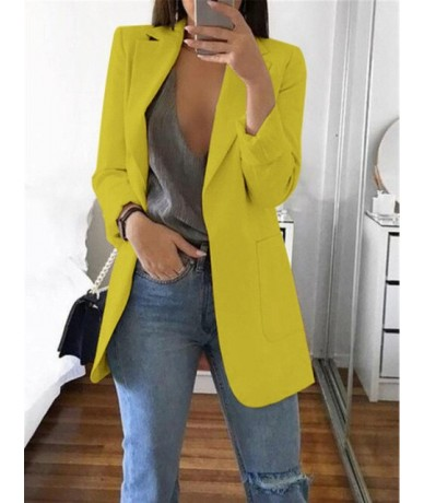 5XL Clothes Women Jackets Coat Zomerjas Open Stitch Notched Blazers Outwear Femme Casual Solid Slim Overcoat Chaquetas De Mu...