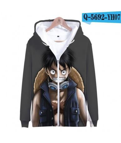 2019 new One Piece 3D Casual Long Sleeve Zipper Hoodies Sweatshirt Women and men Casual Clothes zipper sweatershirt - Color ...