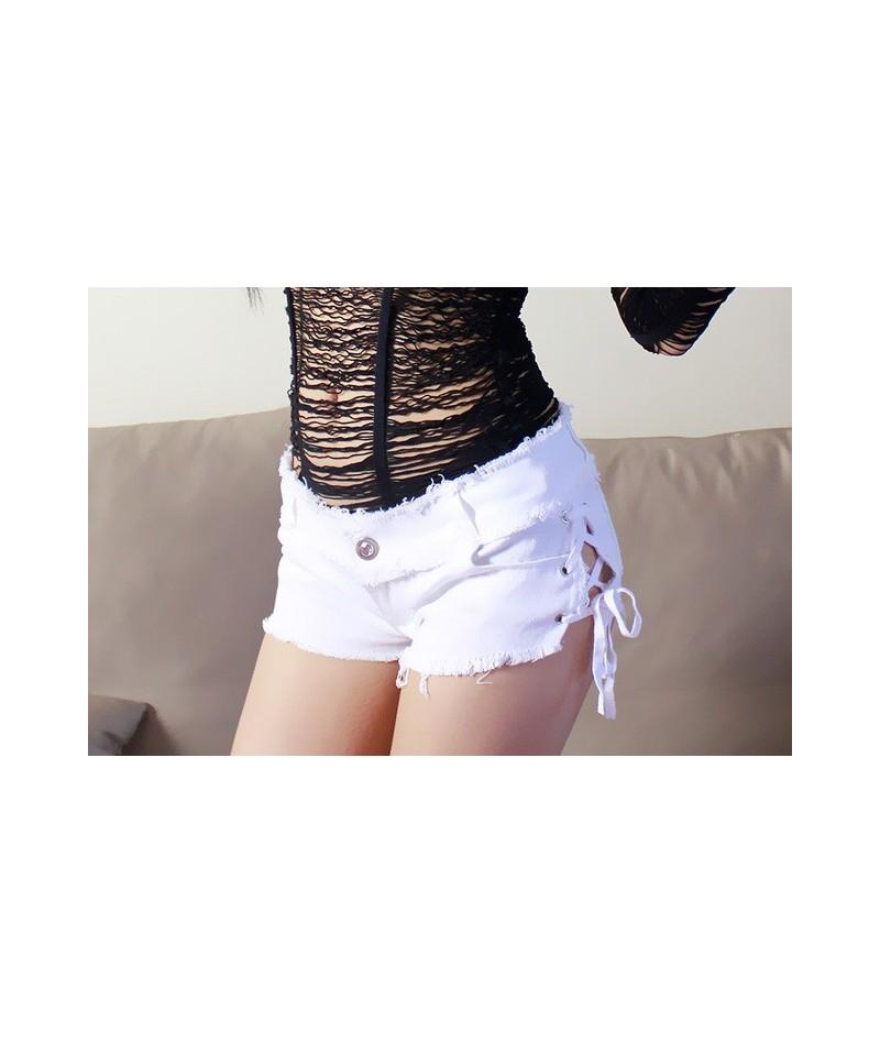 2018 Sexy Mini White Short Jeans Skinny Shorts Cute Club Denim Tassel Short Vestidos Party Hollow Out Black Hot Shorts Casua...