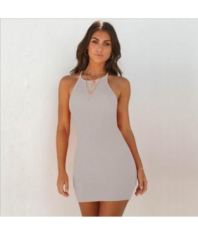 Women Sexy Club Backless Spaghetti Strap Summer Dress 2018 Cotton Ladies Elastic Bodycon Black Yellow Party Mini Dresses - G...
