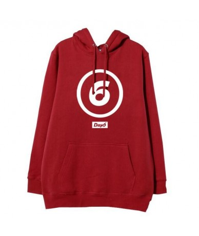 Kpop day6 big logo printing pullover fleece hoodies for fans supportive loose day 6 sweatshirt for autumn winter - 2 - 47392...
