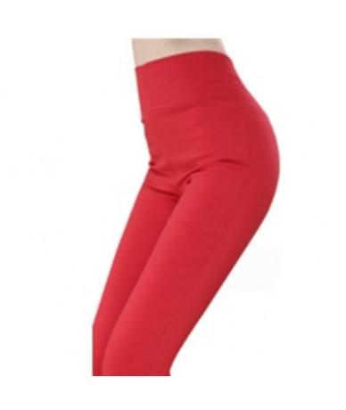 Women Leggings Plus Size 6XL Candy Color Leginsy Damskie Sexy Pencil Pants Summer Leggins Elasticity High Waist Shiny Leggin...