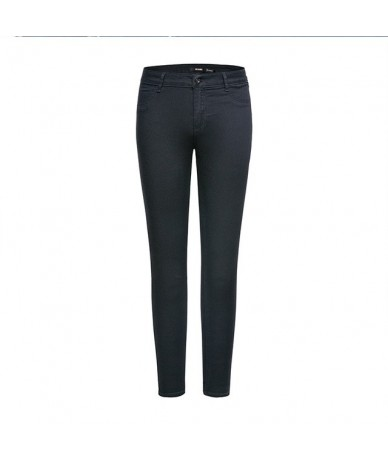 new Jeans for women 2019 Vintage Slim Style Pencil Jean High Quality Denim Pants For 4 Season trousers teenager fashion - bl...