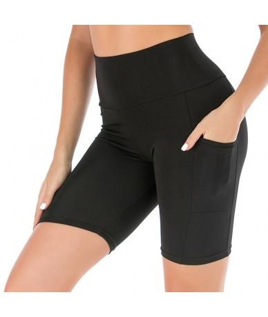 Summer High Waist Shorts Women Workout Push Up Booty Shorts Pockets Short Pants Women Short feminino - Black - 4L3005192201-1