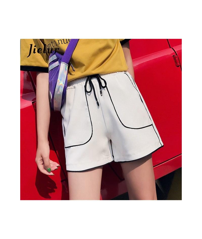Korean Chic Summer Shorts for Women Street Loose Fitness Short Feminino Drawstring Striped Pockets Wide Leg Shorts M-XXL - W...