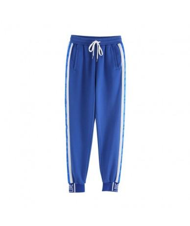 Long Sport Leisure Pants New Arrival 2019 Women Bottoms Double Striped Jogger Harem Pants Sweatpants Sportswear Trousers - b...