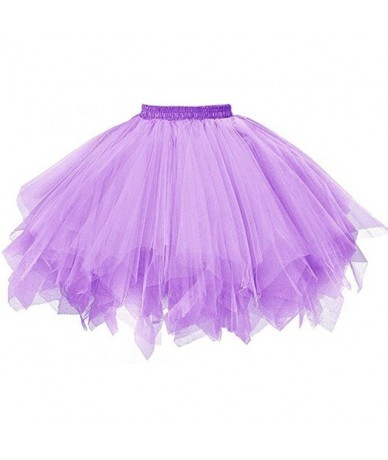 Women Skirts Ball Gown Solid Skirt Dancing Mini Tulle Skirt Girls Tutu Ballet Clothes Black Pink 18Mar23 - Purple - 4C396951...