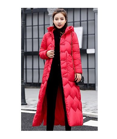 Thick women winter jacket coat down parka coat plus size Long warm Loose hooded coat classica snow wear Cotton-padded jacket...