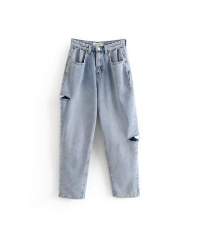 women hole jeans casual ripped jeans fashion womens blue denim pants - - 4D4115349445