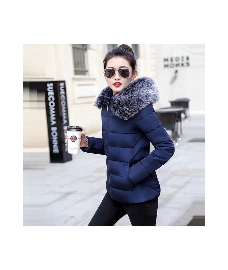2019 New Winter Coat Women Plus size S-5XL Winter Jacket Women Parkas warm detachable fur collar detachable hat Slim fit Out...