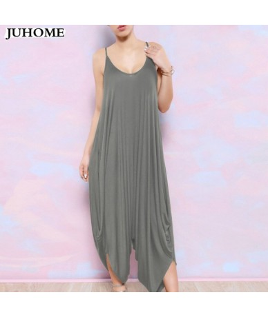 Summer Harem Romper Long Pants Jumpsuit Coveralls Women's Playsuit Spaghetti Strap Deep V-Neck Plus Size clubwear sexy cloth...