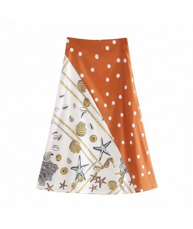 New arrival SD43-9119 European and American Fashion Splice Printed Half Skirt - see chart - 4O4167931988
