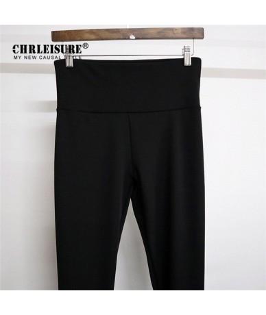 VIP leggings Women Solid color high waist hip Fitness Legging - Black - 4V3973196146-1