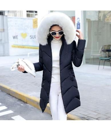 2019 Fashion Women Winter Coat Long Slim Thicken Warm Winter Jacket women Down Cotton Padded Jacket female Outwear Warm Park...