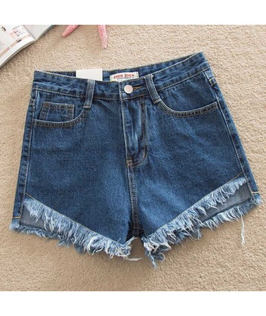 S-4XL 5XL Denim Women Sexy Shorts 2018 Summer Destroyed Shorts Jeans Plus Size High Waisted Jeans Short Feminino Fashion - d...