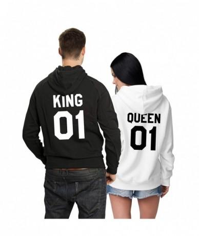 2018 New Womens Hoodies Printing QUEEN 01 KING 01 Lovers Hoodies & Sweatshirts Casual Weekend Hoodies Cotton Terry Hoodie - ...