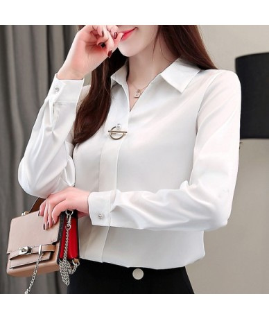 fashion woman blouses 2019 solid chiffon blouse shirt long sleeve women shirts office blouse womens tops and blouses 1783 50...