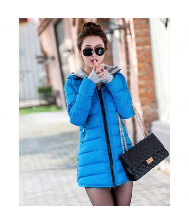 2019 Women Winter Hooded Warm Coat Plus Size Candy Clothes Cotton Padded Jacket Female Long Parka Womens Wadded Jaqueta Femi...