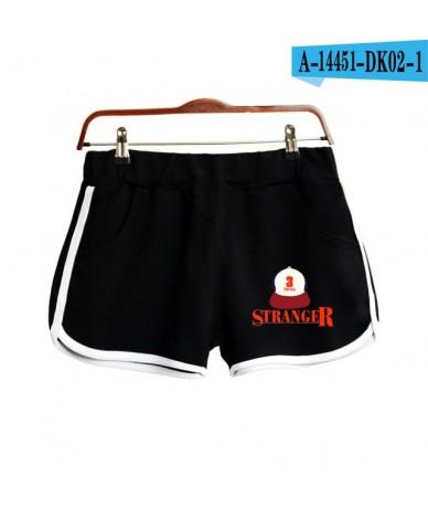 New Summer Shorts Monster story Women Casual Shorts Workout Waistband Skinny Short - Black - 55111189438746-1