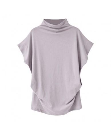 women t shirt summer High quality Loose T-Shirt tees tops Turtleneck Short Sleeve Cotton CasualG - A - 4X4124538832-1