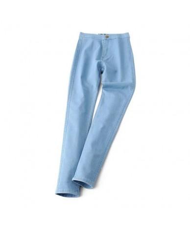 High Waist High Elastic Jeans Women Hot Sale American Style Skinny Pencil Denim Pants Trousers Fashion Vaqueros Mujer Black ...