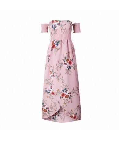 Summer Dress 2019 Vestido Beach Floral Print Sexy Off the Shoulder Women Long White Chiffon Boho Maxi Dresses Plus Size 4XL ...