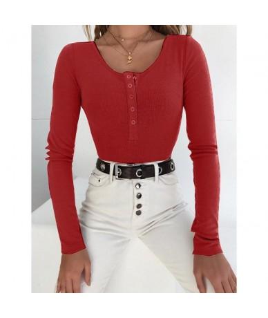 Knitted Bodysuits Women Autumn Lady Thin Onesies Long Sleeve Shapewear Stylish Slim O-neck Bodysuit Slim Overalls Rompers Ca...