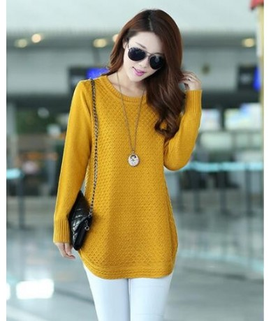 Women Knitted Sweaters 2019 Autumn Winter Long Sleeve Pullover Bottom Shirt Sweater Large Size Loose Casual Tops Women Cloth...