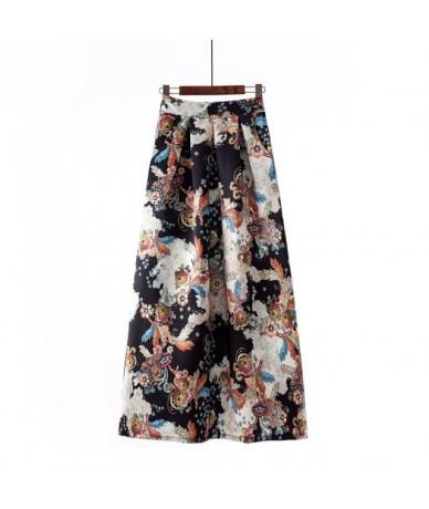 Summer Skirts Womens 2019 Autumn Fashion Foral High Waist Pleated Elastic Waist A Line Long Maxi Skirts For Women with Pocke...