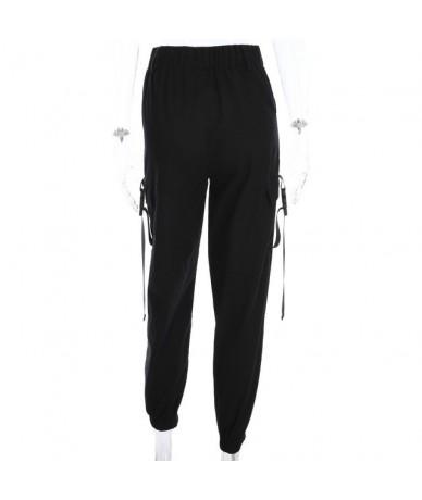Women Black High Waist Pantalon Bomber Femme Street Style Womens Joggers Sweatpants Plus Size Harajuku Cargo Pants - Black -...