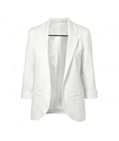 Candy-Color Three Quarter Sleeve Female Jacket Blazer Office Coat Notch Women Suit Solid Women's Blazer And Jackets chaqueta...
