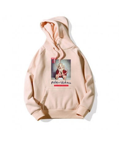 Marilyn Monroe Hoodies For Women Fall 2018 Lady's Pink Casual Female Autumn Apricot Sweatshirt With a Hooded Pullovers Cloth...