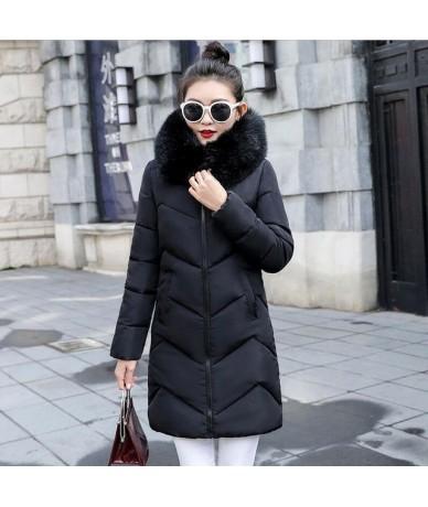 Big Fur New 2019 Winter Jacket Women Warm Thicken Winter Coat Female Jackets Long Parkas Fake hair collar Women's down jacke...