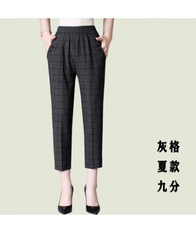 Middle-aged Women Autumn Winter Trousers Big size Loose Plus velvet Elastic Waist Pants Black Female Ankle-length Trousers 5...