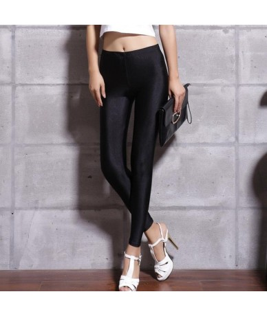 Hot Selling 2018 Plus Size Fluorescent Color Women Leggings Elastic Leggings Multicolor Shiny Glossy Leggings Trousers Women...