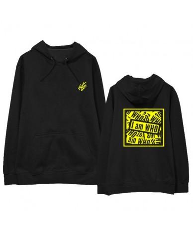 Fashion Straykids Hoodie I am Who Sweatershirt Hip Hop Street Wear Kpop Stray Kids Harajuku Hoodie Coat - Black - 4030651317...