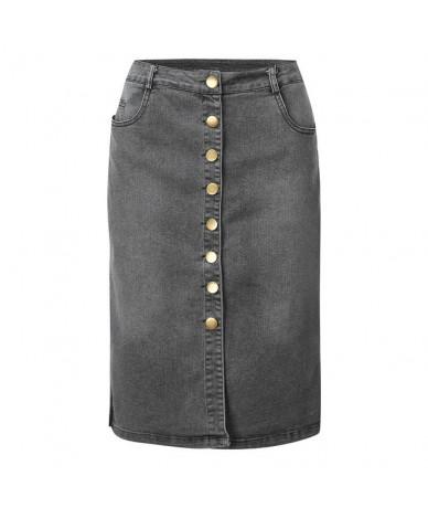 2019 Denim Skirt Fashion Vintga Jeans Skirt Woman Summer Furcal Pencil Skirt Black Gray Casual Street Wear Midi Skirt 3XL XX...