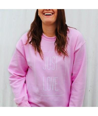 Just Love Harajuku Pink Hoodie Women Long Sleeve Sweatshirt Girl Power Feminist Outerwear Plus Size Jumpers Lesbian Shirts -...